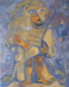 """Saatchi Art Artist Olena Kamenetska-Ostapchuk; Painting, """"Leo"""" #art"""