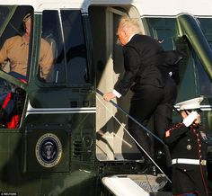 PsBattle: Trump getting on a helicopter