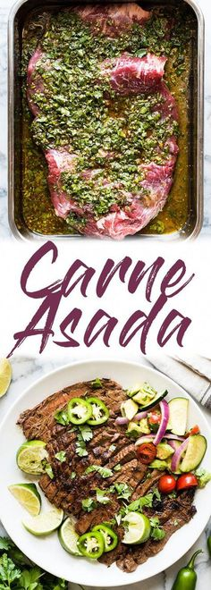 A delicious recipe by Carne Asada made from marinated flank or rock steak and . - A delicious Carne Asada recipe made from marinated flank or rock steak and … - Skirt Steak Recipe Oven, Skirt Steak Recipes, Flank Steak Recipes, Grilled Steak Recipes, Grilling Recipes, Cooking Recipes, Healthy Recipes, Steak Ideas, Oven Steak