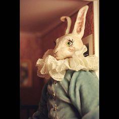 vintage doll rabbit  by Beloriver