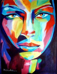 "Saatchi Art Artist Helena Wierzbicki; Painting, """"Deep gaze"""" #art"