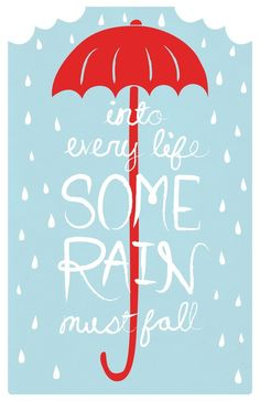 In jedes Leben muss etwas Regen fallen. von LittleOwlDesign auf Etsy