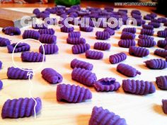 Gnocchi di patate viola e un primo piatto ~ Ricette di cucina