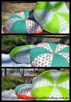 twomonkeys fabrics: Floor Cushion Tutorial-FABULOUS!!