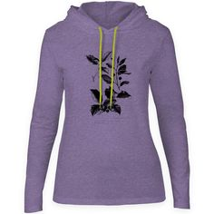 Mintage Botanical Diagram Womens Fine Jersey Hooded T-Shirt