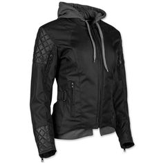 Speed and Strength Women's Double Take Black Textile/Leather Jacket Color: Black Size: Small