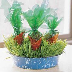 arreglos de mesa cumpleaños infantil zanahorias
