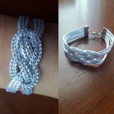 Linda pulsera de nudo Marinero. Macrame, Bracelets, Jewelry, Fashion, Sailor Knot, Handmade Accessories, Knot Bracelets, Hand Made, Moda