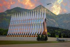 US Air Force Academy chapel.  Colorado Springs, CO.  Got married here.