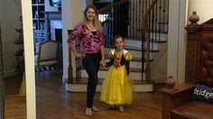 Chic Mother-Daughter Princess Costumes for Halloween