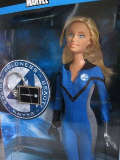 2005 2006 BARBIE FANTASTIC 4 INVISIBLE WOMAN ULTRA RARE NEW BOXED COLLECTABLE DOLL! #MATTEL