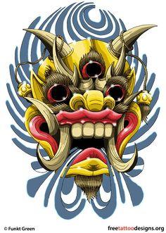 Japanese Demon war mask