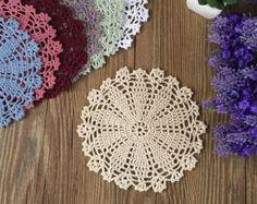 12 pcs in Vintage look hand crochet doilies ON by LynnLakeWorkshop