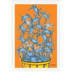 Melissa Van Hise Bushel of Crabs by Ramon Matheu Framed Painting Print