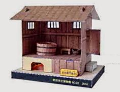Papermau: Ancient Japanese Bath House Paper Model - by Suita City Museum