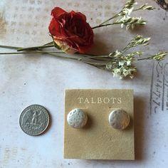 """NWT Talbots Matte Silver Ear Stud  Brand new with tag Talbots Matte Silver Ear Stud  Chic and minimalistic! 0.6""""/1.5cm in diameter. Hypoallergenic. Talbots Jewelry Earrings"""