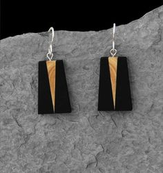 Boucles d'oreille_Pyramide Ébène