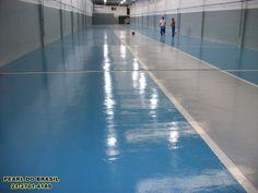 Piso Epóxi, pintura de piso industrial para concessionaria.