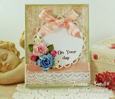 Inspired by Stamping Little Phrases I & II Stamp Sets, Birthday Card, Shabby Chic