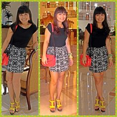Dres-korean dress,bag-mango,sandal-primadonna,accessories-qup