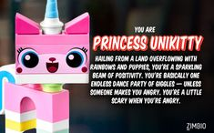 I literally screamed when I got my result. YAY Unikitty is mah favorite! | Which 'LEGO Movie' Character Are You?