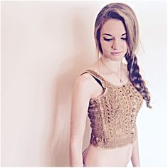 Vintage 80s crop top India boho tank top button up XS S gold / featuring polyvore, women's fashion, clothing, tops, vintage crop top, button down tank top, button down crop top, gold tank top and bohemian tops
