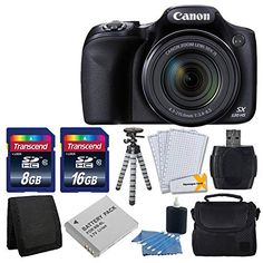 Canon PowerShot HS Digital Camera with Optical Image Stabilized Zoom with LCD HD Video (Black)+ Extra Battery + Class 10 Card Complete Deluxe Accessory Bundle And Much More - PhotoMania - Camera, Photo & Video Experts Canon Sx530, Gopro, Best Hobbies For Men, Canon Powershot Camera, Smart Auto, Optical Image, Flash Memory Card, Camera Reviews