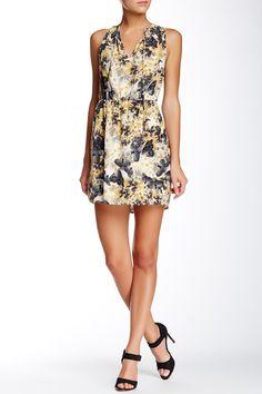 Collective Concepts | Floral Print Tie Neck Dress | Nordstrom Rack