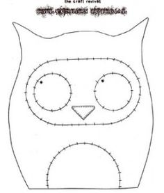 Fun Owl Cushion Tutorial by The Craft Revival - great idea for older kids who want to learn how to sew.