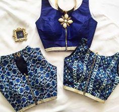 Royal blue. Zippered.