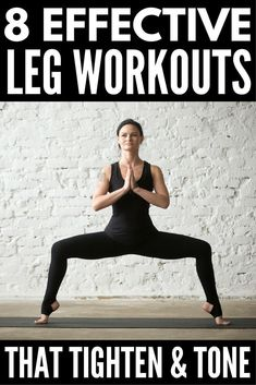 8 Slimming Leg Workouts You Can Do Anywhere | Want to know how to get skinny legs fast? You're in luck! Whether you like to workout at the gym or at home, we've got 8 no equipment workout videos for women to help you tighten and tone your inner and outer
