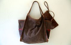new LORNA DALE Set - in  waxed canvas & leather - free shipping