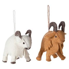 Felt Ornament Yak Set Of 2, $9, now featured on Fab.