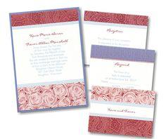 Playful Patterns Layered Wedding Invitation