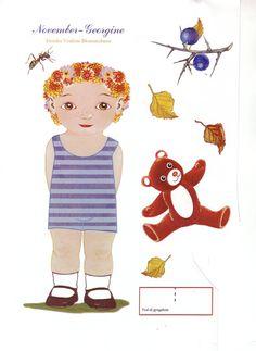 Clothing for Flower Child =>DANISH Toj lil  blomsterbarn [November Georgine] 1 of 10