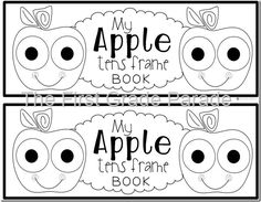 The First Grade Parade: Apples Tens frame book. Preschool Math, Kindergarten Classroom, Kindergarten Activities, Fun Math, Math Games, Kindergarten Apples, Classroom Resources, Classroom Ideas, First Grade Parade