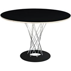 Crisscross Dining Table, Black ($725) ❤ liked on Polyvore featuring home, furniture, tables, dining tables, criss cross table, circular dining table, black round kitchen table, onyx dining table and round furniture