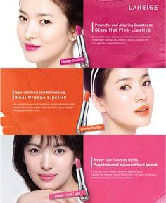 LANEIGE Silk Intense Lipstick Song Hye Kyo's Lipsticks. SILK INTENSE LIPSTICK