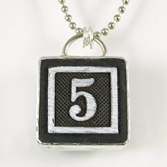 Number 5 Pendant by XOHandworks $20