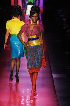 Thinking I may wear a little more color at 52! Jean-Paul Gaultier Haute Couture Spring 2012