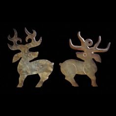 jade pendants in the form of stags western zhou dynasty 950 bc