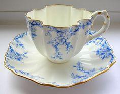 •.¸.•´ ` ❤RARE ANTIQUE 19TH CENTURY COALPORT ENGLAND CABINET CUP AND SAUCER•.¸.•´ ` ❤