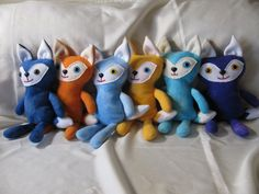 Stuffed foxes stuffed toy plush toy fox toy fox by CATsThisAndThat