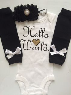 newborn girl onesie long sleeve winter outfits - Google Search