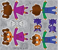 Jack and Jill o'Lantern fabric by laurijon on Spoonflower - custom fabric