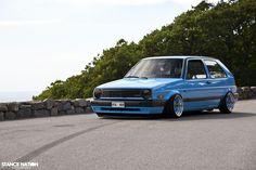 VW Golf Mk2 - mid blue one day i'll have you. #golf #blue #rims