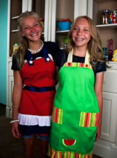 Quick & Easy Dishtowel Aprons from Teen Craft Connection projects