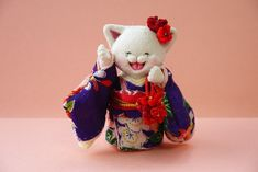「 着物ねこ 」 - ちりめん猫のハンドメイド日和