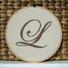L Initial cross stitch