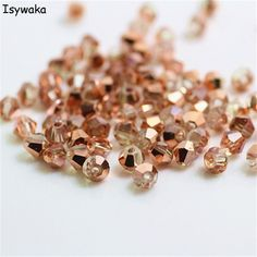 Isywaka Sale Red copper Color 100pcs 4mm Bicone Austria Crystal Beads charm Glass Beads Loose Spacer Bead for DIY Jewelry Making  Price: 0.61 USD